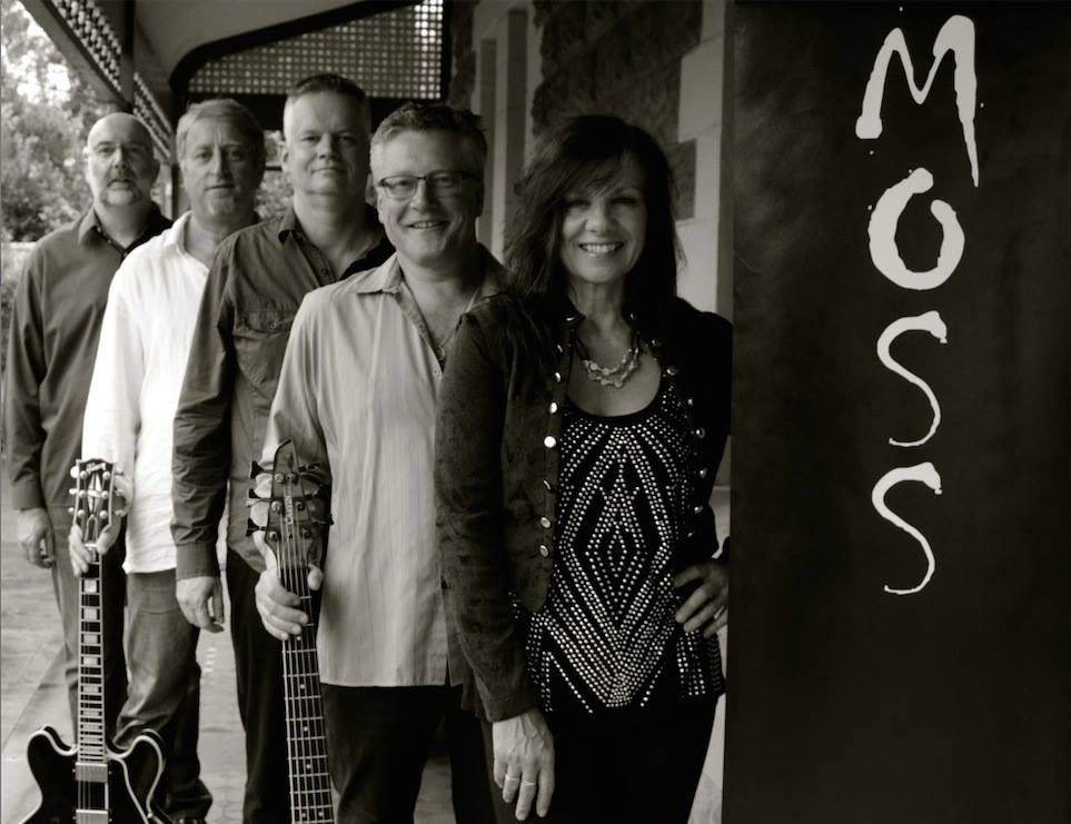 MOSS line-up: Left to Right: Clive Pollard, Mark Simpkin, David White, Istvan Nemeth, Suzie Craig