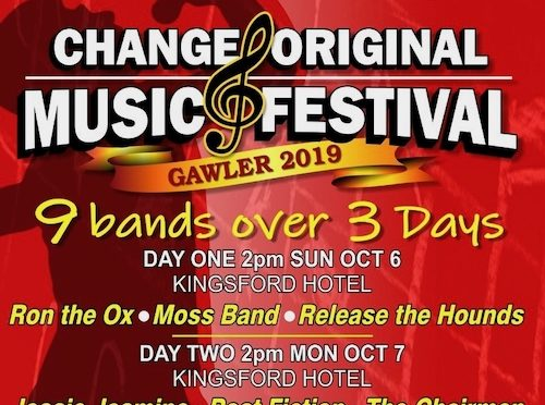 Gawler's 2019 CHANGE Original Music Festival